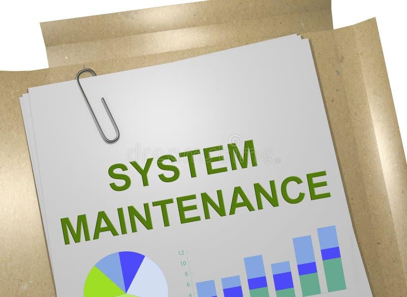 Conceito de manutenção do sistema ilustração stock