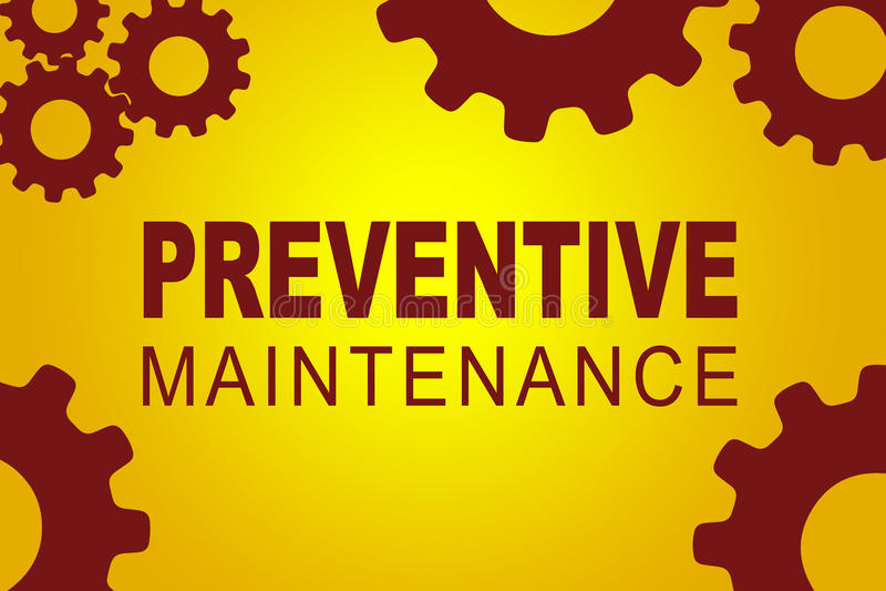 Conceito de manutenção preventiva ilustração royalty free