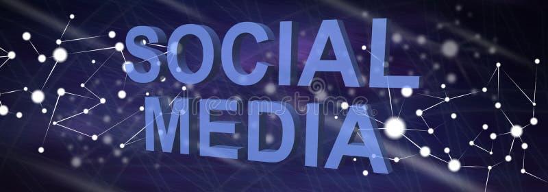 Conceito de meios sociais ilustração stock
