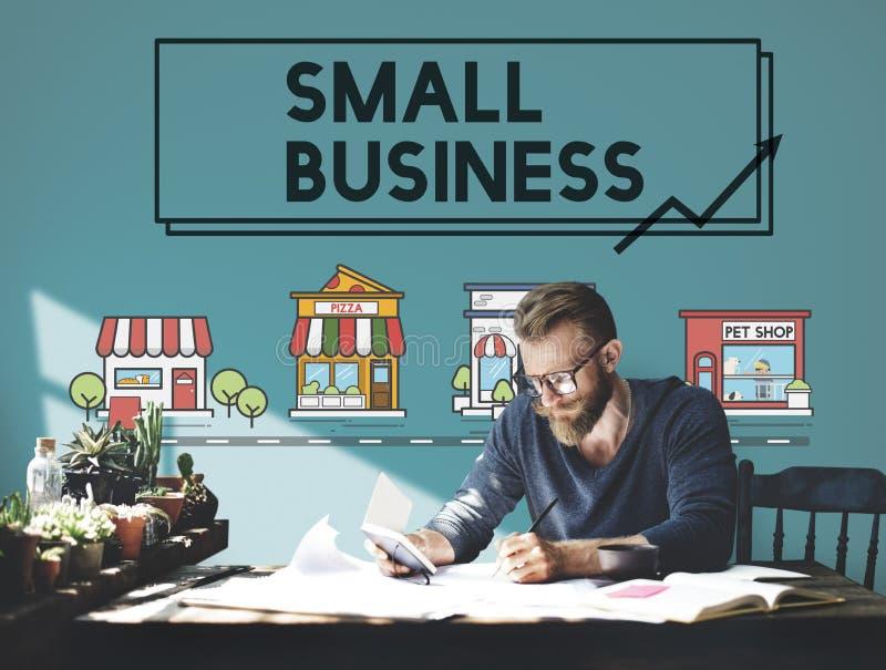 Conceito de mercado da empresa da estratégia empresarial pequena fotografia de stock