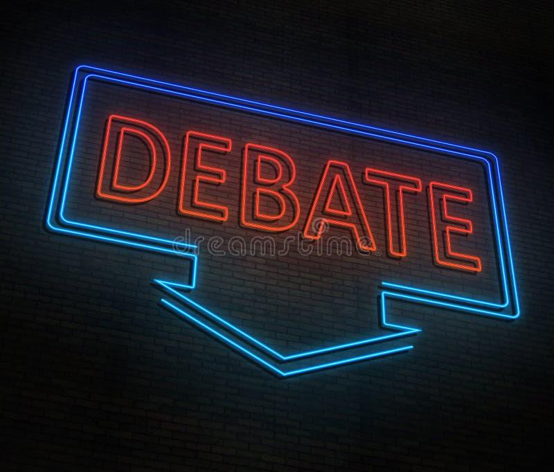 Conceito de néon do debate ilustração royalty free