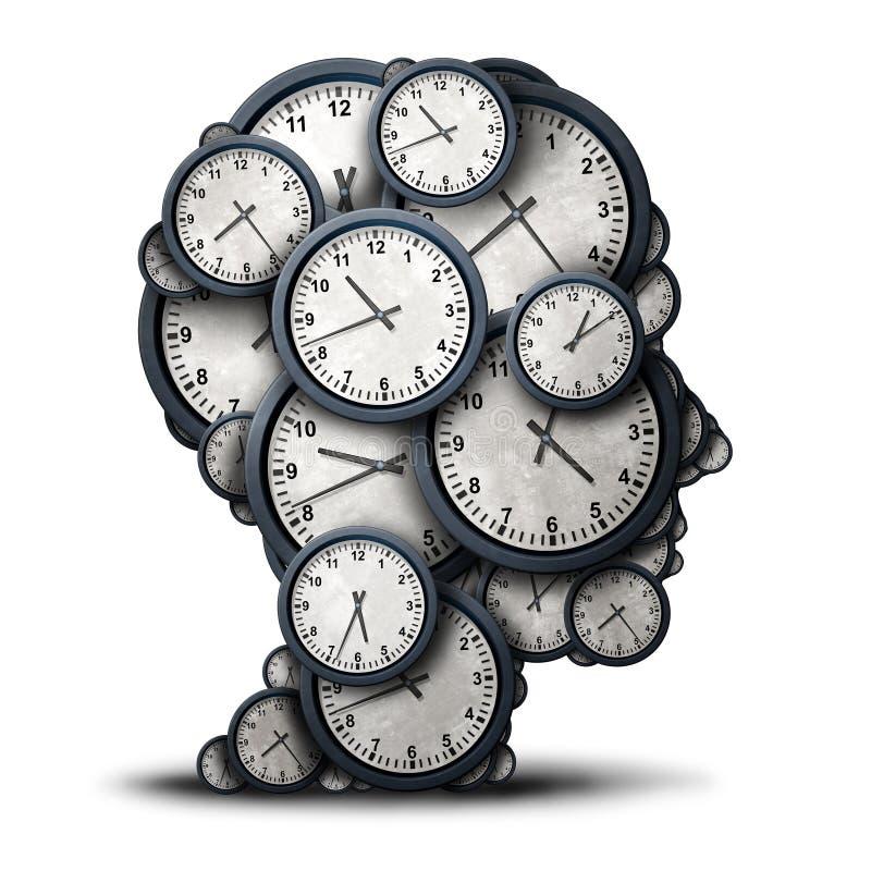 Conceito de pensamento do tempo ilustração royalty free