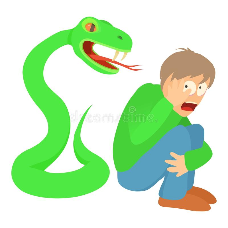 Conceito de Phlegmophobia, ilustração dos desenhos animados ilustração royalty free