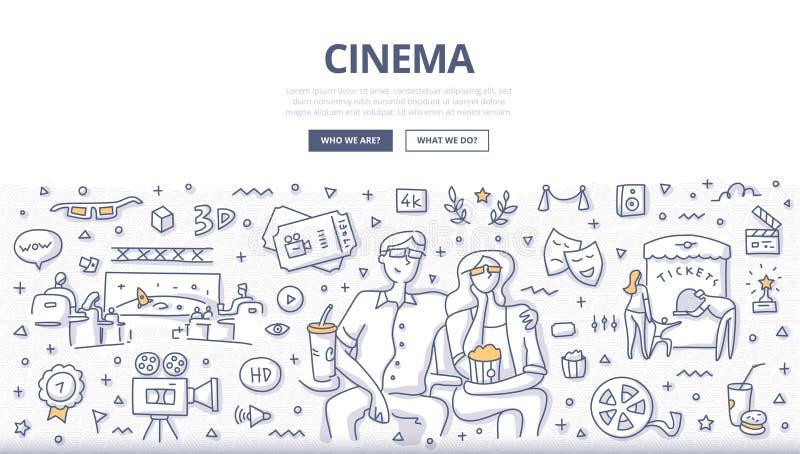 Conceito de porta de cinema ilustração stock