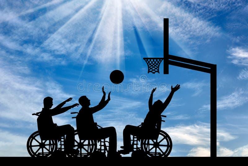 Conceito de povos do estilo de vida dos esportes com inabilidades fotografia de stock