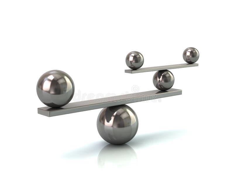 Conceito de prata do equilíbrio ilustração do vetor