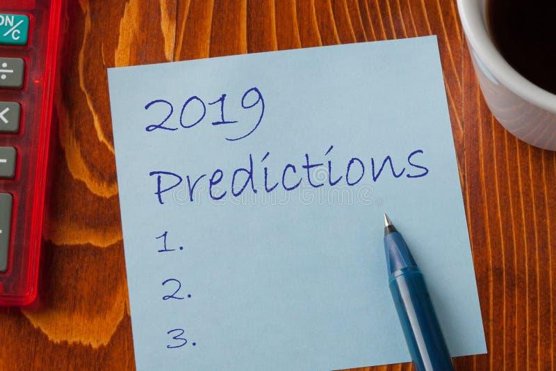 Conceito de 2019 previsões imagem de stock royalty free