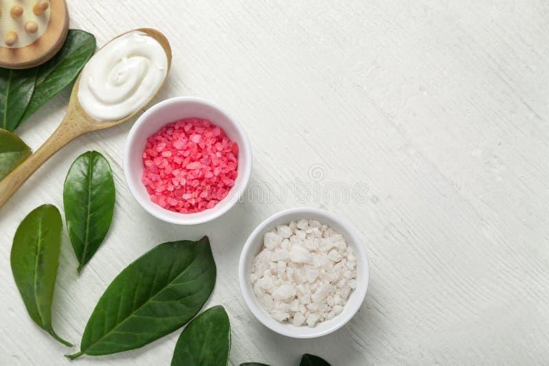 Conceito de produtos cosmético dos termas fotos de stock royalty free