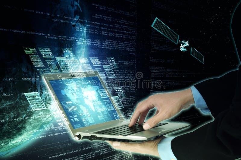 Conceito de programação da tecnologia do servidor do Internet foto de stock