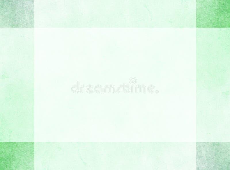 Conceito de projeto abstrato Beira verde sutil do grunge com quadrados de canto mais escuros ilustração stock