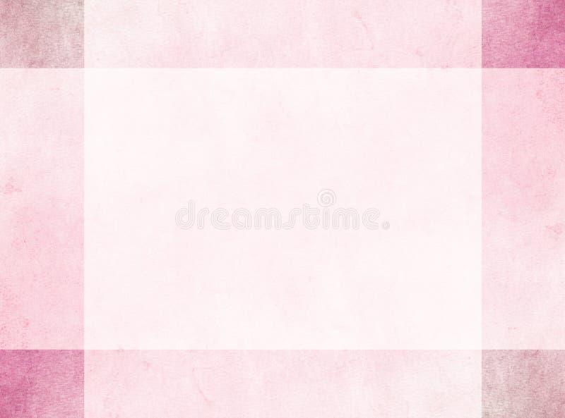 Conceito de projeto abstrato Beira vermelha sutil do grunge com quadrados de canto mais escuros imagem de stock royalty free