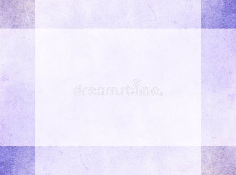Conceito de projeto abstrato Beira violeta sutil do grunge com quadrados de canto mais escuros foto de stock royalty free