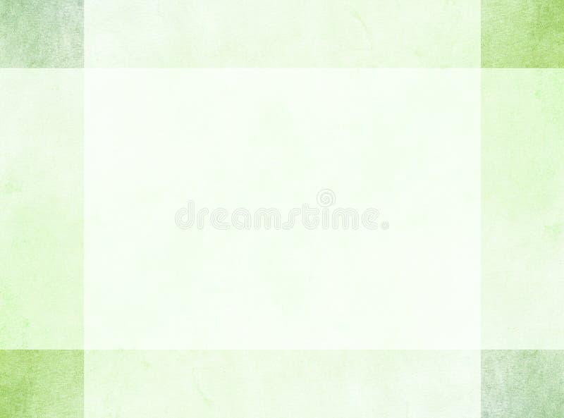 Conceito de projeto abstrato Sutil ilumine - a beira verde do grunge com quadrados de canto mais escuros ilustração royalty free