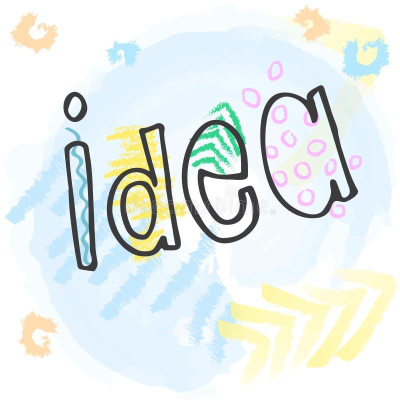 Conceito de projeto colorido liso para a ideia Ideia de Infographic de fazer produtos criativos ilustração stock