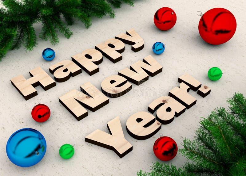 Conceito de projeto creativo Fundo festivo para insetos, convites e cartões sazonais Presentes do Natal, decorações e ilustração do vetor