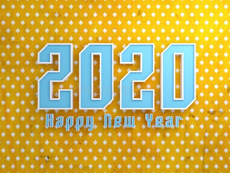 Conceito de projeto criativo do ano novo 2020 ilustração do vetor