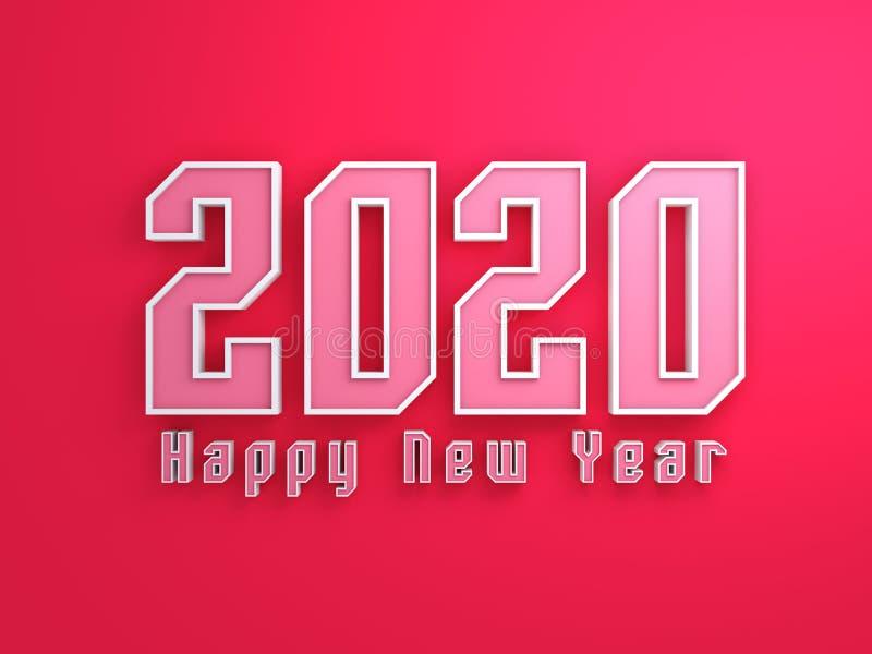 Conceito de projeto criativo do ano novo 2020 ilustração royalty free