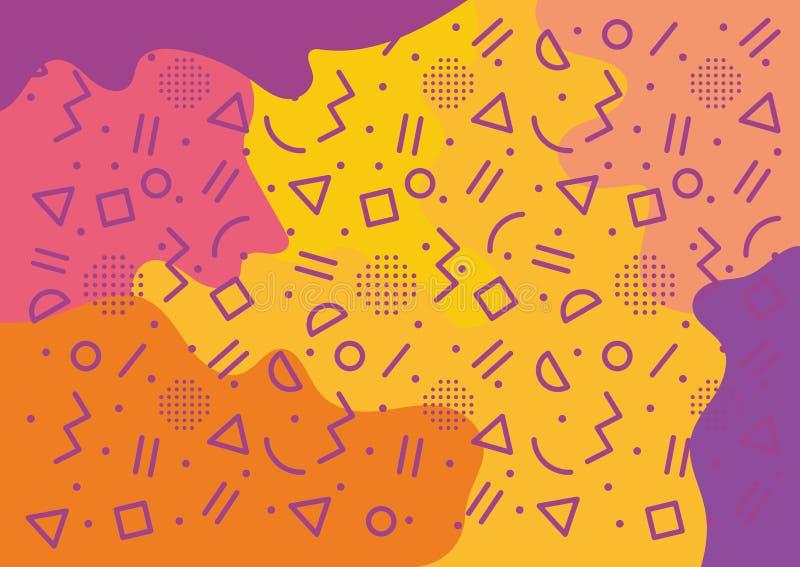 Conceito de projeto da bandeira do campo de jogos das crianças ilustração royalty free