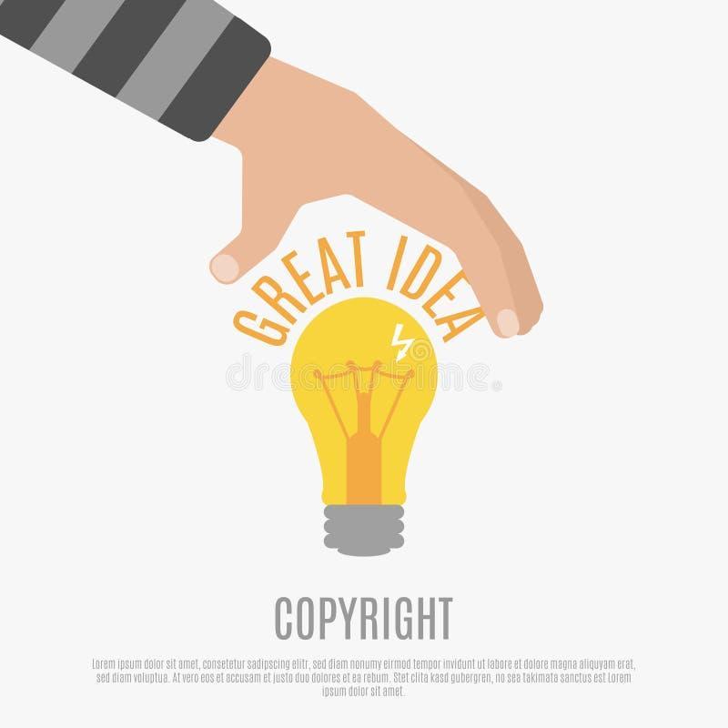 Conceito de projeto da conformidade de Copyright ilustração do vetor