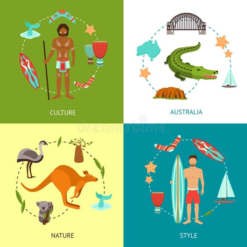 Conceito de projeto de Austrália ilustração do vetor