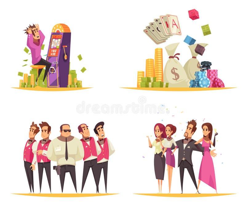 Conceito de projeto do casino de jogo ilustração stock
