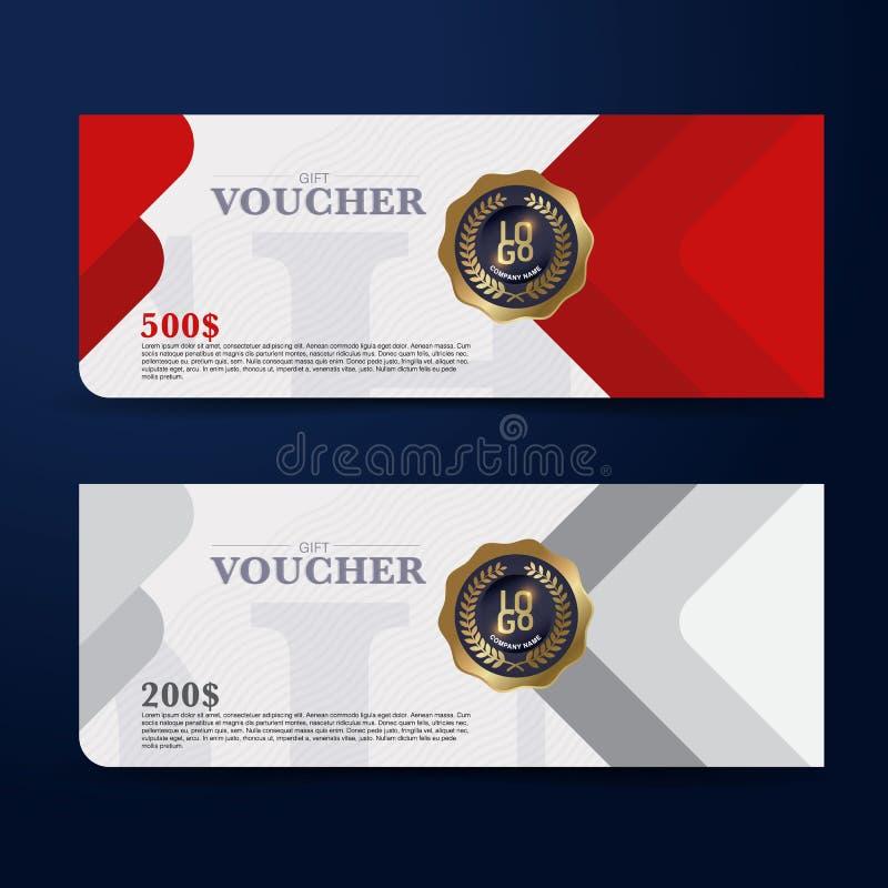 Conceito de projeto do comprovante de presente para o vale do presente, convite, certificado, inseto, bandeira ilustração do vetor
