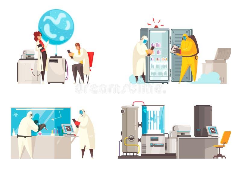 Conceito de projeto do laboratório da microbiologia ilustração do vetor