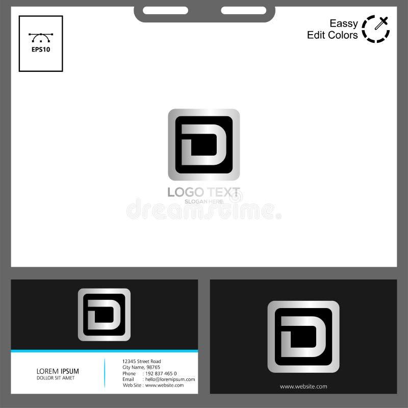Conceito de projeto do logotipo da letra D imagem de stock