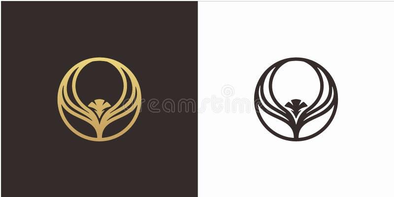 Conceito de projeto do logotipo de Eagle com molde luxuoso do logotipo do estilo ilustração royalty free