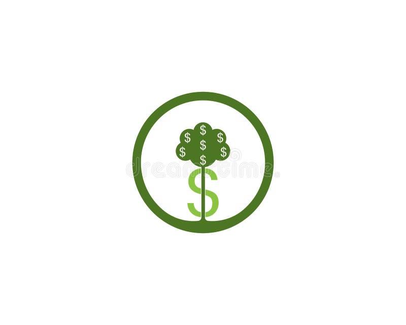 Conceito de projeto do logotipo do investation da árvore do dinheiro ilustração royalty free