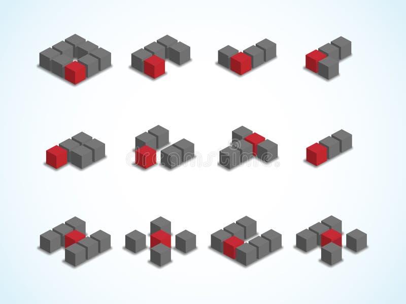 Conceito de projeto do logotipo para logístico, o envio e o negócio da empresa de correio fotos de stock