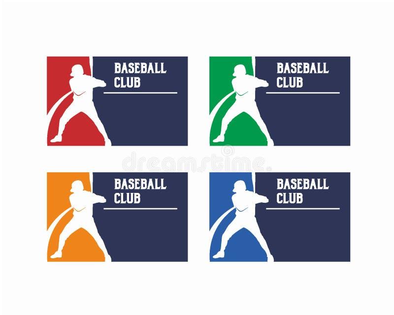 Conceito de projeto do vetor do logotipo do basebol, ilustração do projeto do logotipo do esporte, vetor do fundo, molde do proje ilustração stock