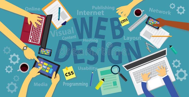 Conceito de projeto do Web ilustração stock