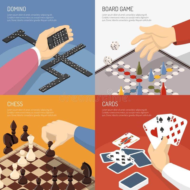 Conceito de projeto dos jogos de mesa ilustração royalty free