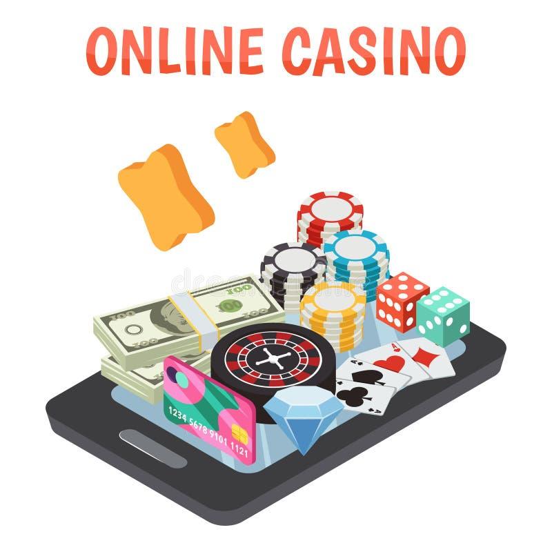 Conceito de projeto em linha do casino ilustração do vetor