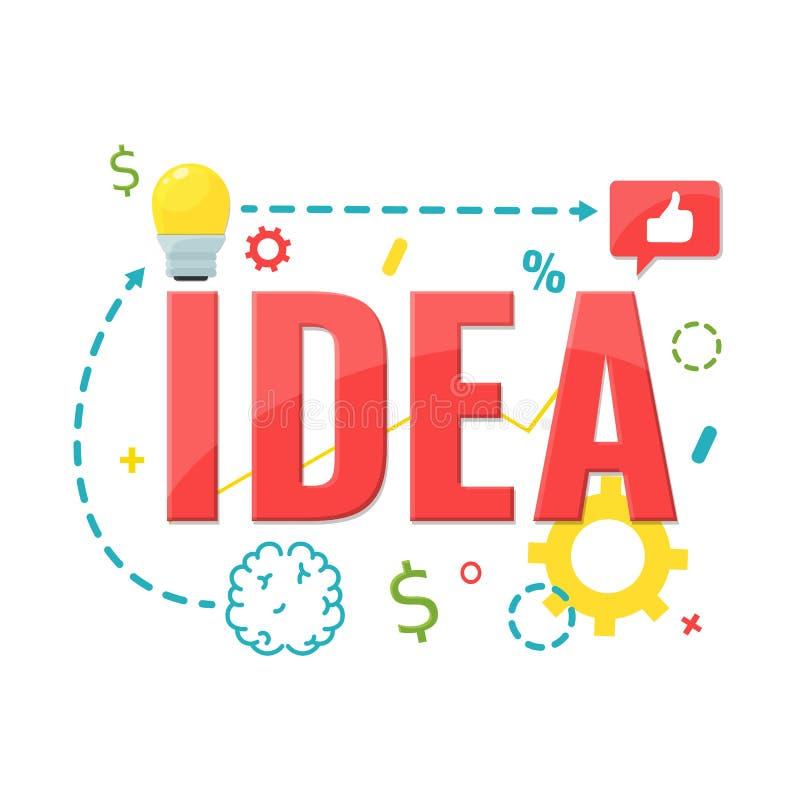 Conceito de projeto para a ideia Fazendo produtos criativos ilustração do vetor