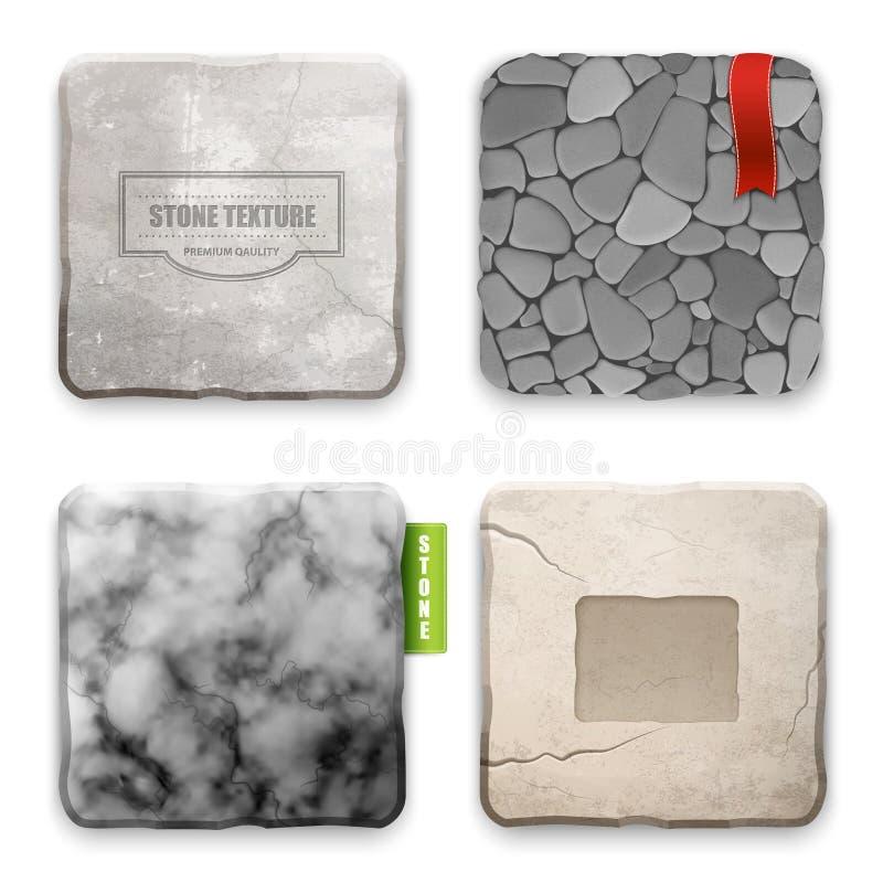 Conceito de projeto de pedra realístico da textura ilustração royalty free