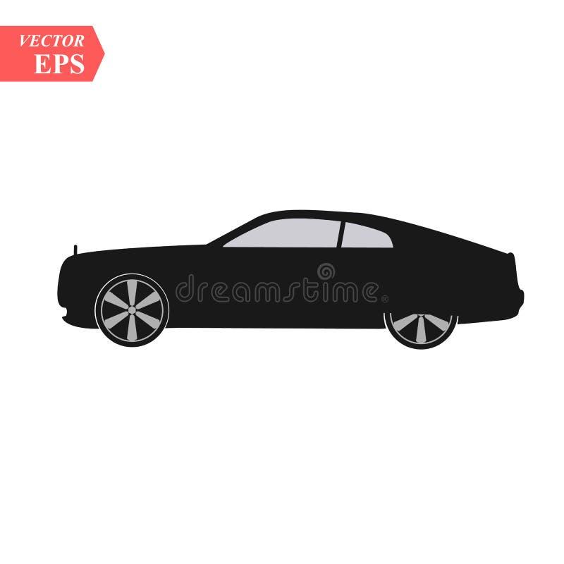 Conceito de projeto super do carro Arte realística moderna original Automóvel luxuoso genérico Opinião lateral da apresentação do ilustração do vetor