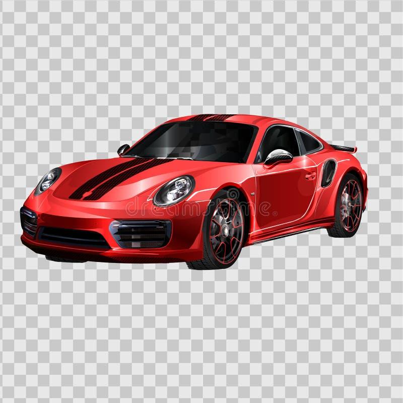 Conceito de projeto super do carro Arte realística moderna original Automóvel luxuoso genérico Opinião lateral da apresentação do ilustração royalty free