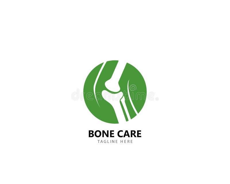 Conceito de projetos do logotipo da saúde do osso, vetor do tratamento do osso ilustração do vetor