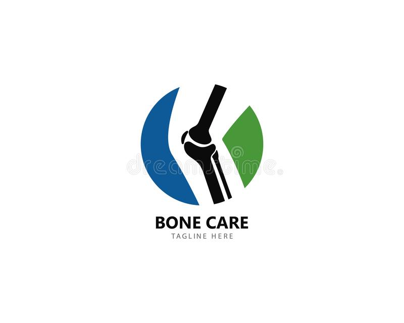 Conceito de projetos do logotipo da saúde do osso, vetor do tratamento do osso ilustração stock
