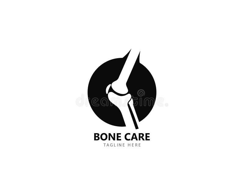 Conceito de projetos do logotipo da saúde do osso, vetor do tratamento do osso ilustração royalty free