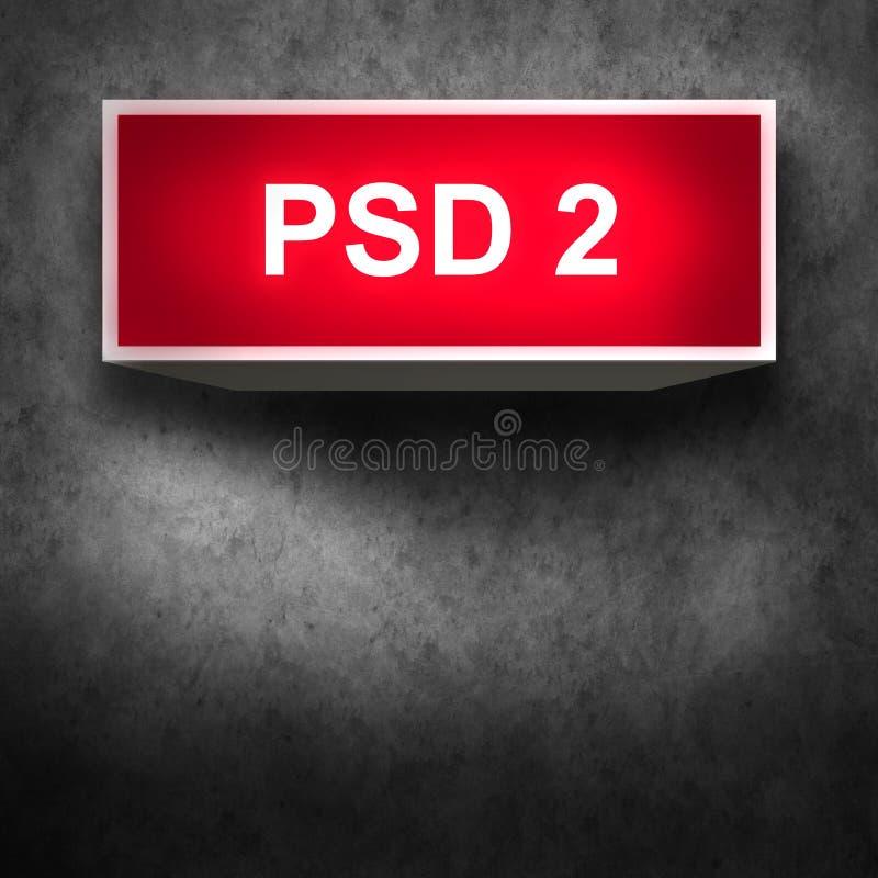 Conceito de PSD2 - o pagamento presta serviços de manutenção à diretriz orientadora imagem de stock royalty free