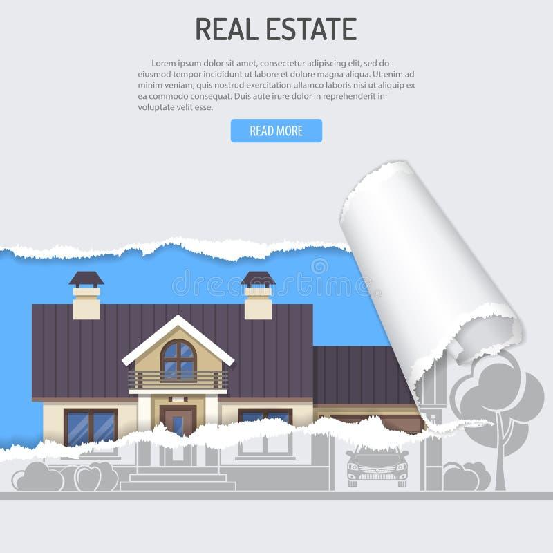 Conceito de Real Estate do aluguel do aluguer da compra da venda ilustração stock