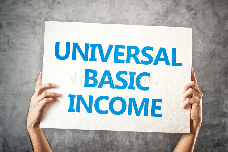 Conceito de renda básico universal imagem de stock royalty free