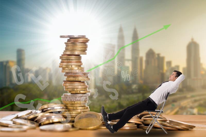Conceito de renda passiva fotos de stock royalty free
