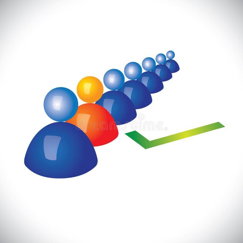 Conceito de selecionar ou de contratar o pessoal adequado, trabalhador ilustração do vetor