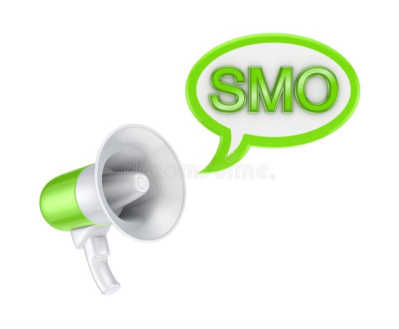 Conceito de SMO. ilustração stock