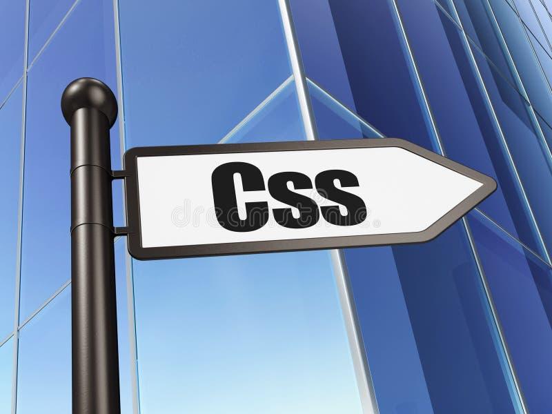 Conceito de software: sinal Css no fundo da construção ilustração royalty free