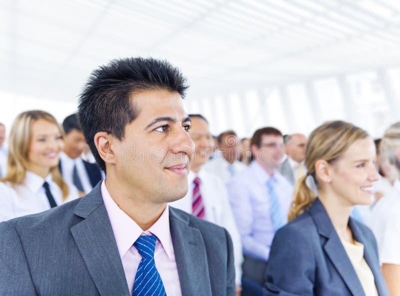 Conceito de sorriso das pessoas do negócio do homem de negócio foto de stock royalty free